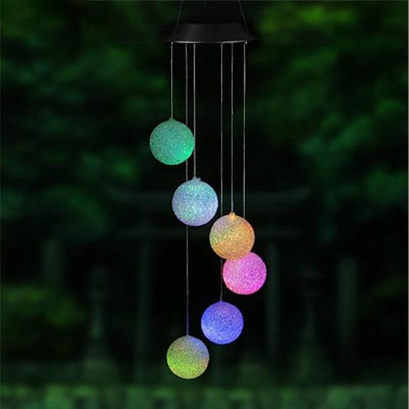 lâmpada à prova dmulticolágua vento sino luz