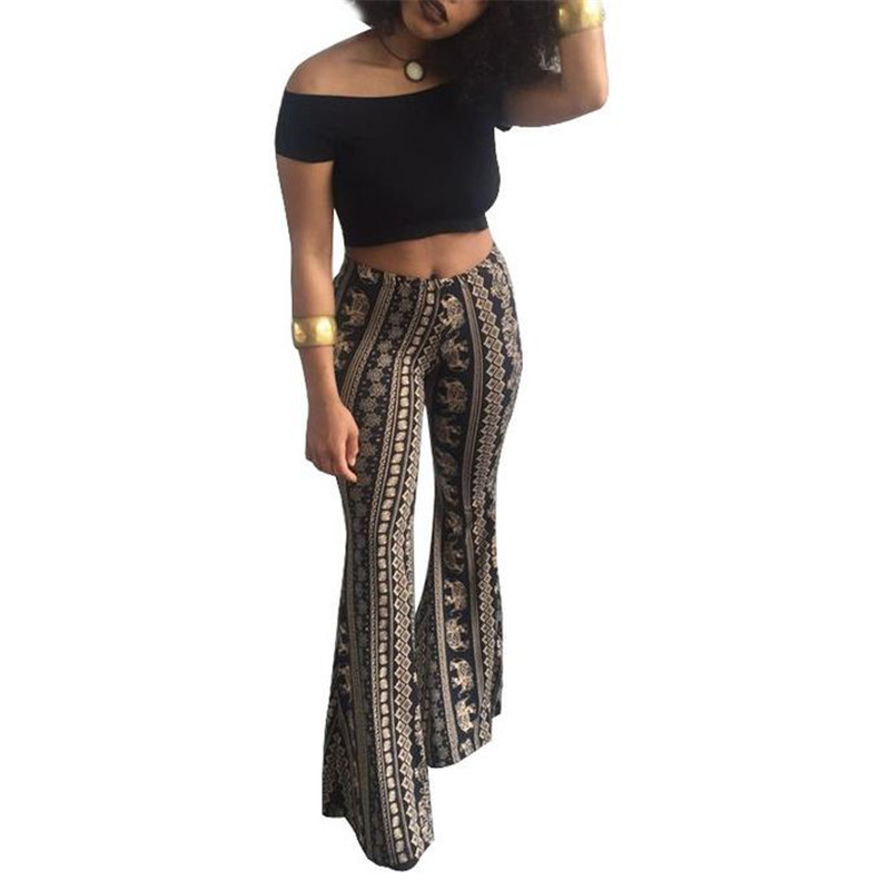 Hippie gypsy pants Teal Wide leg pants Tie Dye pants Flare bell bottoms pants with split