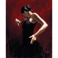 Famous woman painting Flamenco Dancer II oil on canvas impressionist art Handmade Gift