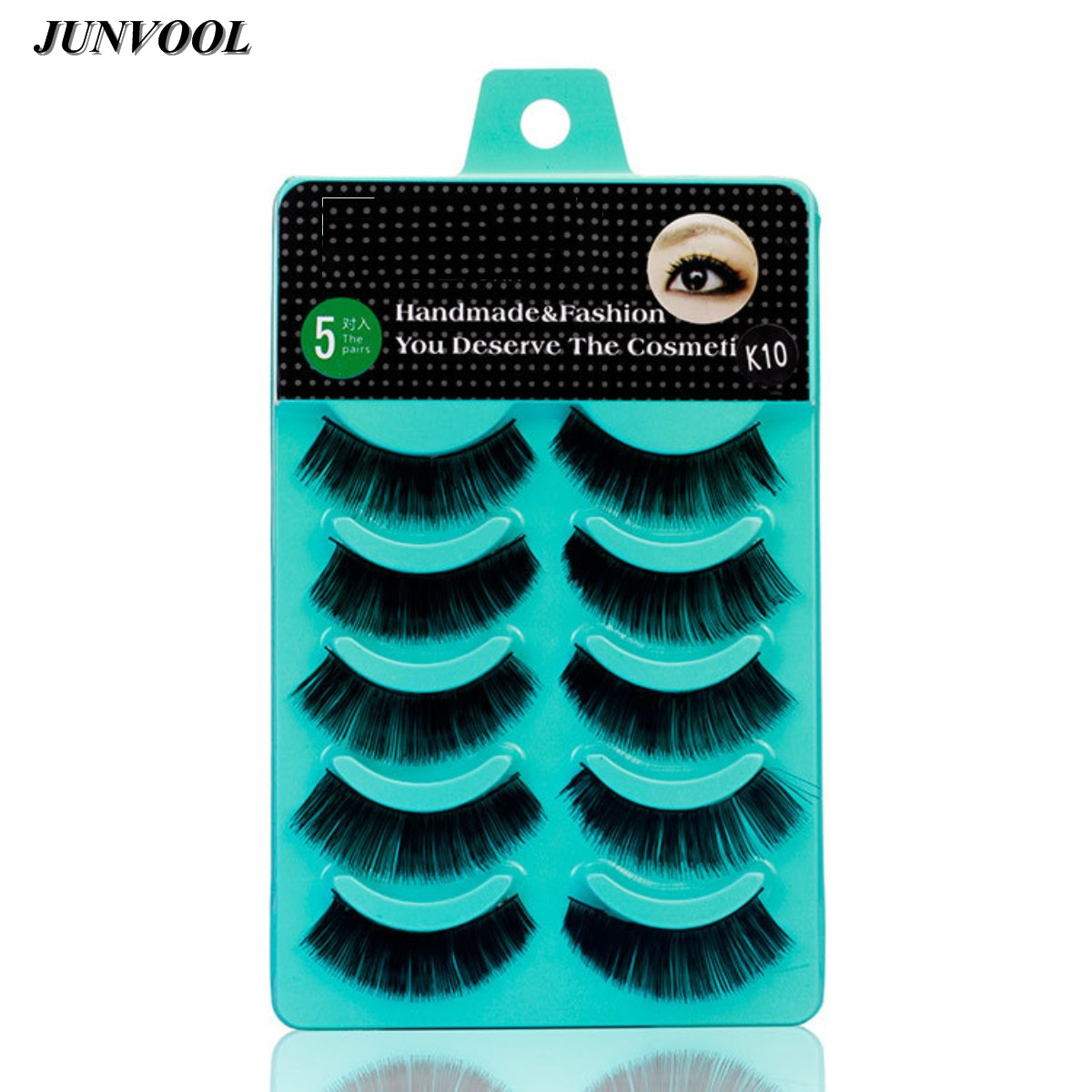 Cilios False Eyelashes Professional Thick Fake Lashes Nude Makeup Eyelashes Extentions 5pairs Per Pack With Model Show