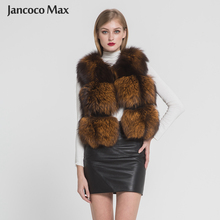 2019 New Spring Women Real Fox Fur Vest High Quality Winter Warm Gilet Fashion Waistcoat 3 Rows S7382
