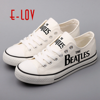 E LOV Low Top Men S Causal Shoes Customized Hip Hop Rock Style Male Canvas Shoes