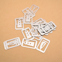 20 pcs/lot (one box) Mini Metal Bookmark Clips Cute Cartoon Animal Plated Sliver Bookmarks Stationery Gift (random Style)