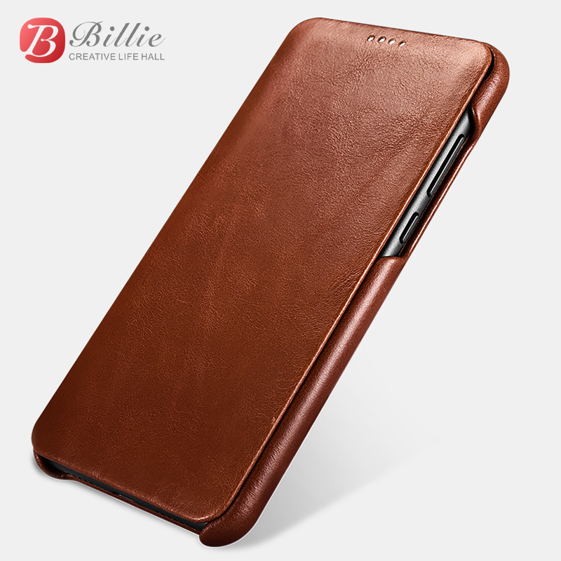 Pour Huawei P20/P20 Pro étui de luxe mince dur Vintage en cuir véritable armure Flip complet de protection arrière housse de téléphone Funda Capa
