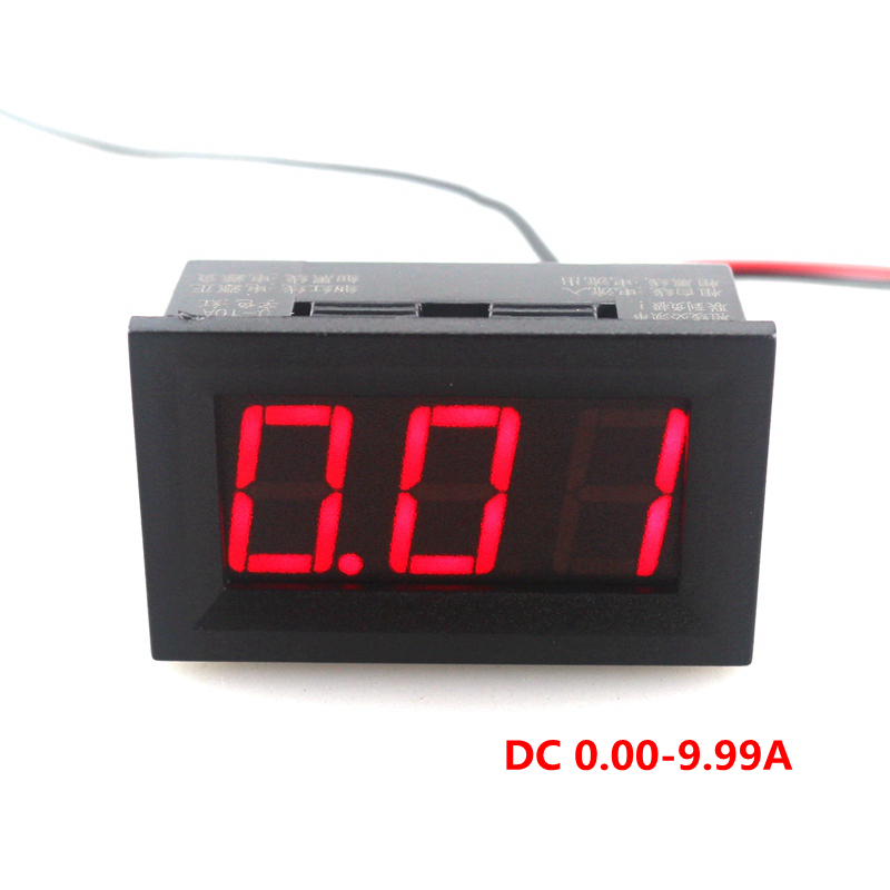 mini digital ammeter ampere panel meter dc 10a current. Black Bedroom Furniture Sets. Home Design Ideas