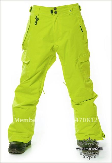 New Mens 686 Pea Green Mannual Original Cargo SKi Snowboarding Pants M L XL