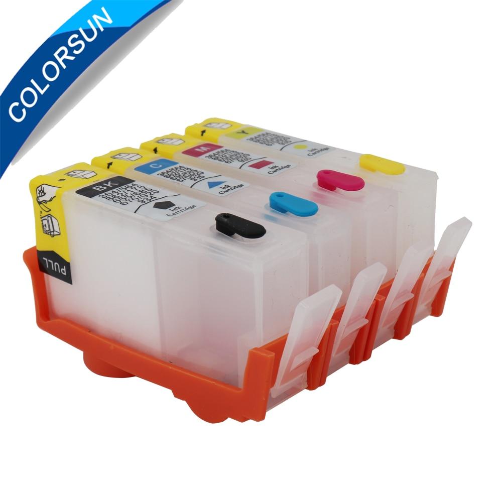 Colorsun voor HP 934 935 navulbare inktcartridge met chip 934XL 935XL - Office-elektronica