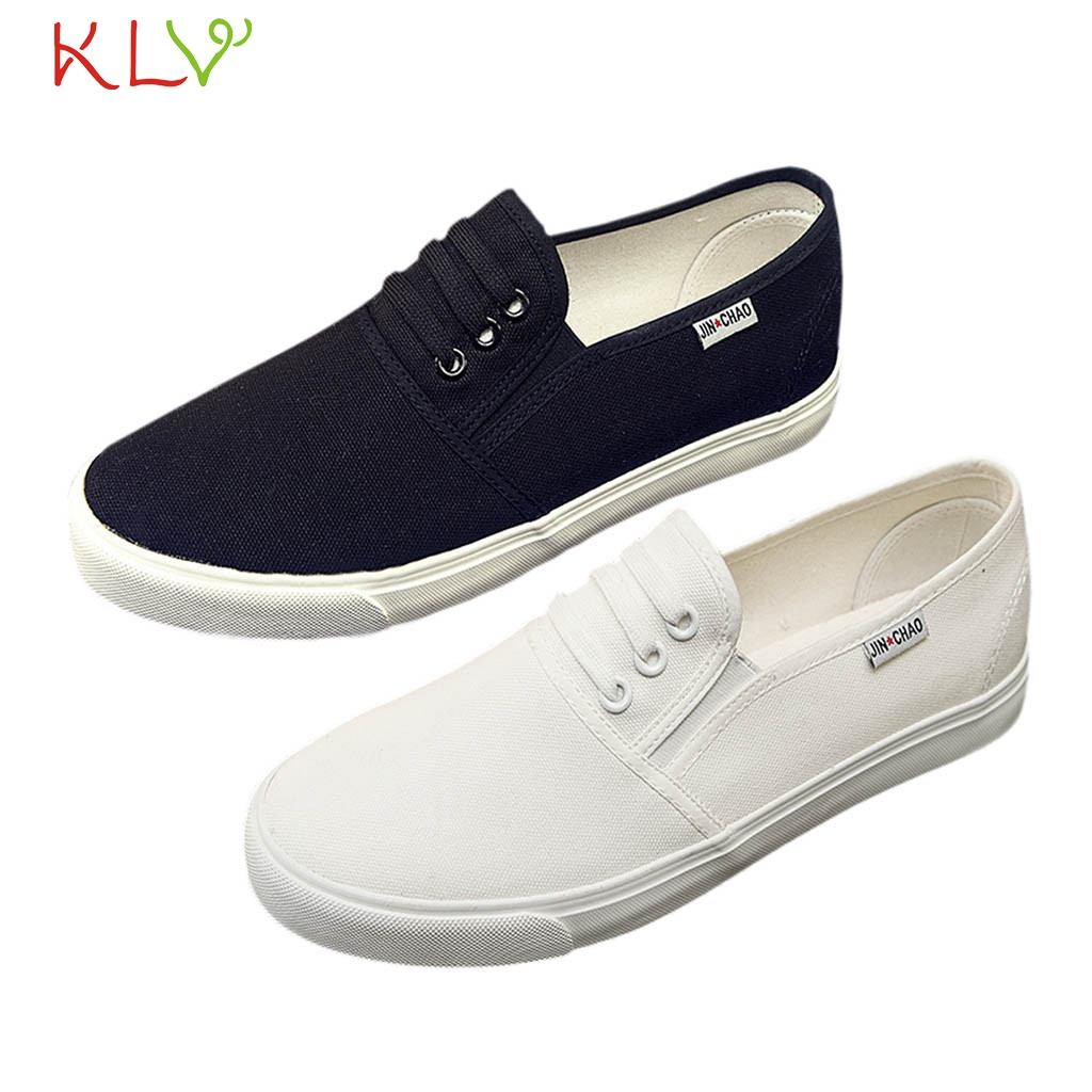 fc18be401 Couple Shoes Men and Women White Canvas Sneakers Shoes Flats 2019 New  Arrivals Feminino Breathable Female Casual Shoes 18Dec5