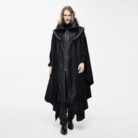 Devil Fashion Steampunk Men Long Cloak Coats Punk Gothic Halloween Dark Vampire Count Bat Cape Casual Hooded Loose Overcoats