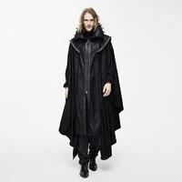 Devil Fashion Steampunk Men Long Cloak Coats Punk Gothic Halloween Dark Vampire Count Bat Cape Casual Hooded Loose Overcoats