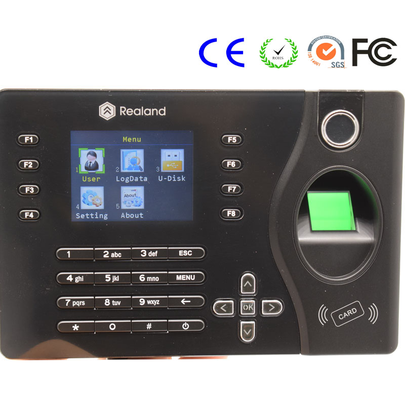 все цены на 2.4 Inch TFT Color Display Employee TCP/IP Fingerprint Time Attendance Usb Time Recorder Realand A-C081 онлайн