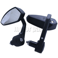 Universal 22mm 7 8 Handlebar Bar End Rear Mirrors Motorcycle Scooters Motorbike Rearview Side Mirror Black