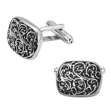 Men's shirts Cufflinks high-quality copper material Oval retro pattern Cufflinks Cufflinks 2 pairs of packaging for sale