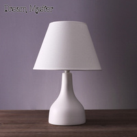 Nordic Simple Modern Table Lamp Living Room Bedroom Bedside Creative American Lovely Warm Ceramic Table Lamp