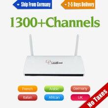 SUPER STABLE Arabe Iptv Europe Leadcool Android TV Box 1 année QHDTV IPTV Abonnement Allemagne Italia Français IPTV Serveur Top boîte