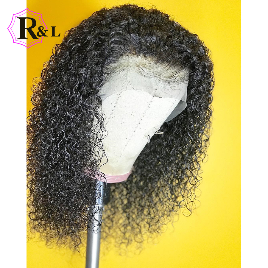 RULINDA Curly Lace Front Human Hair Wigs With Baby Hair Short Brazilian Remy Hair Lace Wigs