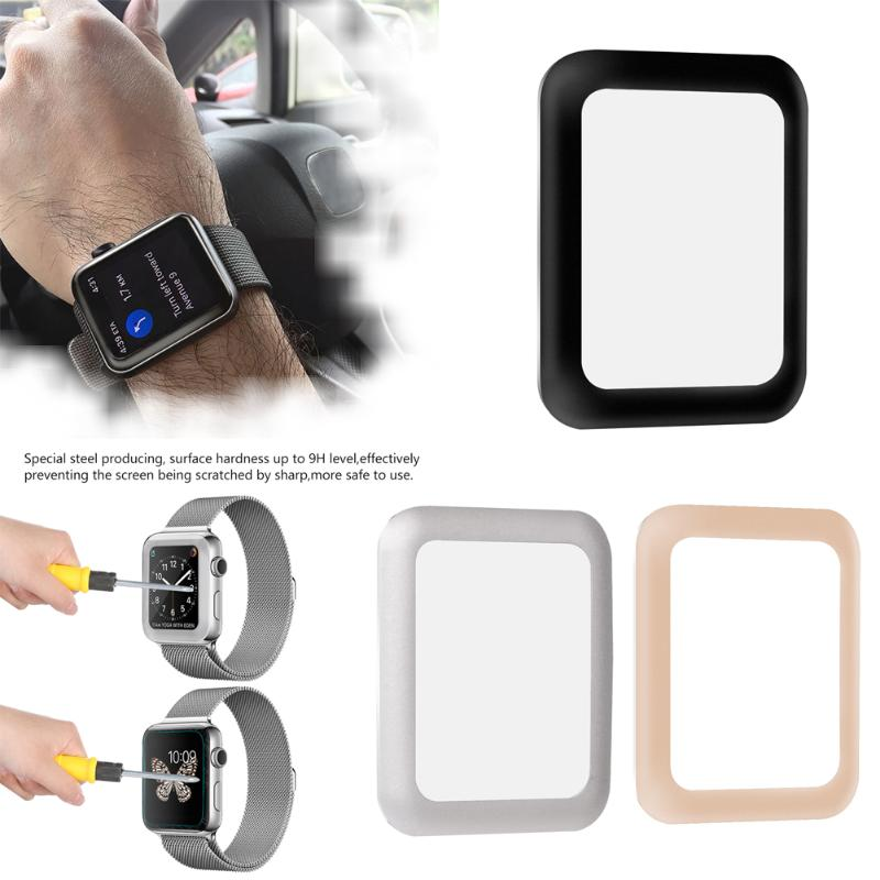 3D Class For iWatch Screen Protector Film Full Cover 3D Curved Soft Edge Tempered Glass For Apple Watch 42mm 38mm Series 3 2 1