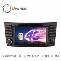 1024*600 4G LTE SIM Quad Core Android 6.0 2 GB RAM Carro DVD Player para Mercedes Benz-Classe e W211 2002-2009 E200 E220 E240 E270