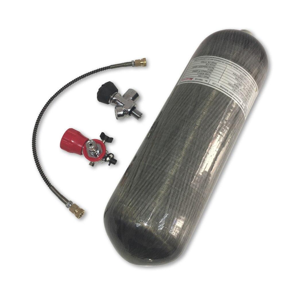 AC168301 6.8L Paintball PCP Rifle 300bar 4500psi Bottles Air Balloon High Pressure Carbon Fiber Tanks & Valve & Filling Station
