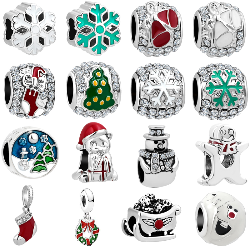 Jewelry & Accessories Beads Aifeili Wheat Beads Pendant Christmas Bell Old Man Mask Pendant Diy Fit Pandora Bracelet Jewelry European Charm At All Costs