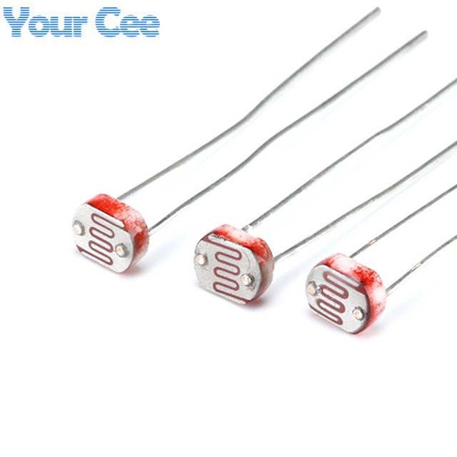50pcs 5MM Photoresistor Light Dependent Resistor LDR 5506 5516 5528 ...