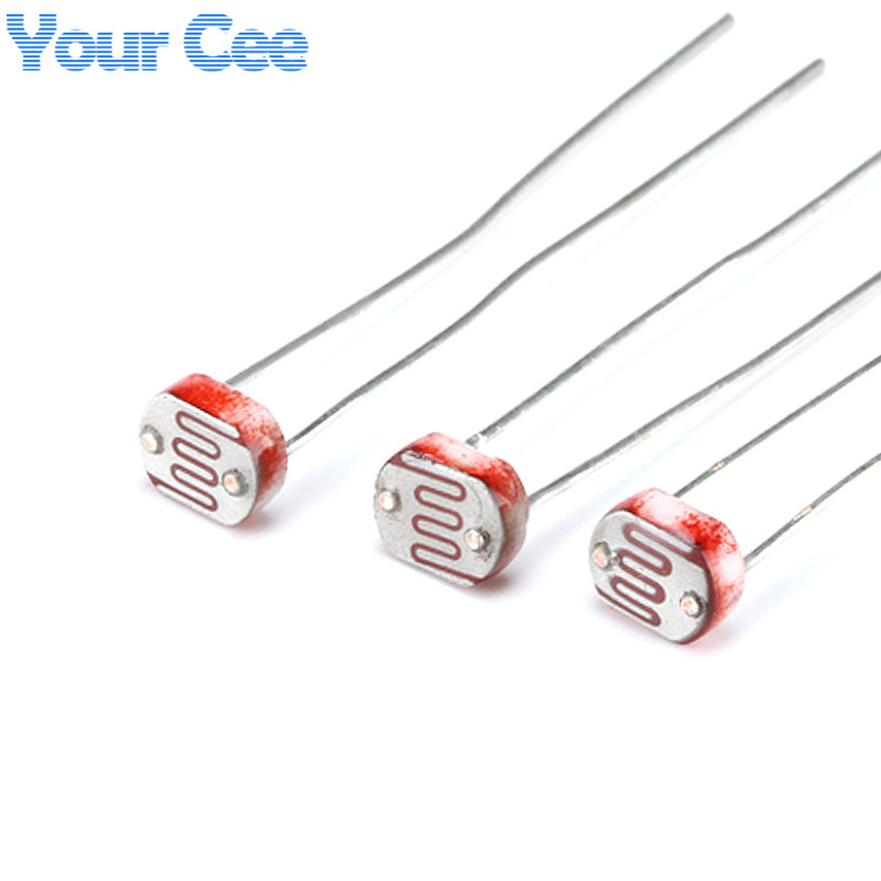 50pcs 5MM Photoresistor Light Dependent Resistor LDR 5506 5516 5528 5537 5539 ...