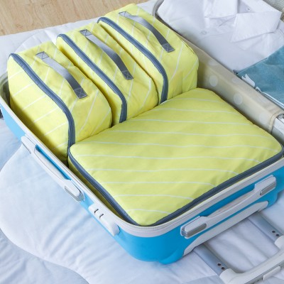 4pcs Fashion Twill waterproof travel clothing bag storage bag free shipping in Storage Bags from Home Garden