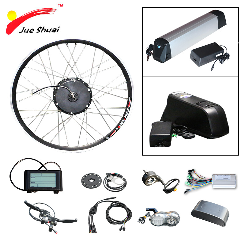 цена на 36V 48V Electric Bike Kit Electric Bike Conversion Kit with Battery 48V 10ah 12ah Ebike bicicleta electrica 250W 350W 500W Motor
