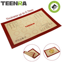TEENRA 1Pcs Large Baking Mat Nonstick Silicone Baking Mat Scale Macaron Rolling Dough Mat Slipat Cooking
