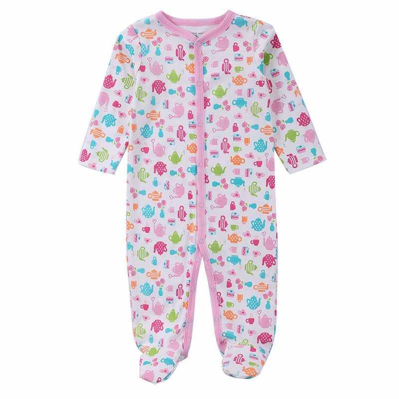 3 PCS Mother Nest Brand Baby Romper Long Sleeves 100% Cotton Baby Pajamas Cartoon Printed Newborn Baby Girls Boys Clothes (6)