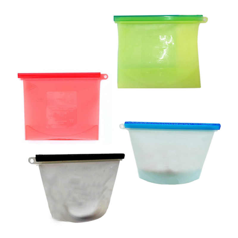 Reusable Seal Silicone Food Fresh Bag Vacuum Sealer Fruit Meat Milk Storage Bags Kitchen Organizer Accessories