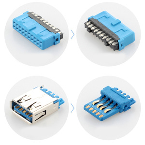 Image 5 - Panel Screw Mount Motherboard Baffle Cable Header Bracket PCI Computer Rear Dual USB 3.0 For PC Female To 20Pin Copper Wire