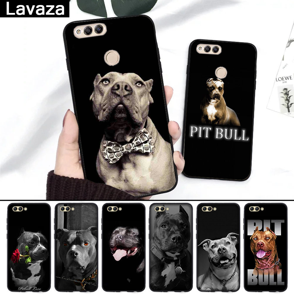 Lavaza Pit Bull Dog Pitbulls Silicone Case for Huawei Honor 6A 7A 3GB Pro 7X 8 Lite 8X 8C 9 Note 10View 20 9X in Fitted Cases from Cellphones Telecommunications