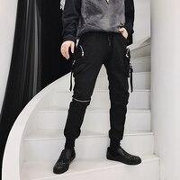 Male Slim Fit Harem Trousers Jogger Sweatpants Men Streetwear Hip Hop Punk Gothic Fashion Casual Pant Cargo Pant