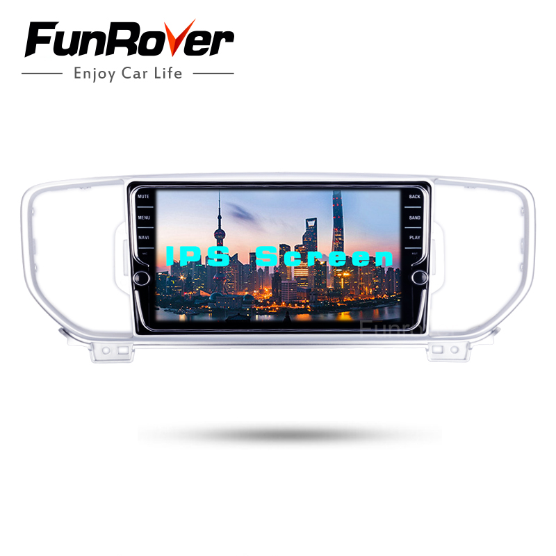 Funrover IPS 8 2 din Android 8.0 car dvd player for KIA sportage 2016 2017 KX5 gps navigation car stereo headunit WIFI BT navi funrover ips 8 2 din android 8 0 car dvd player for kia sportage 2016 2017 kx5 gps navigation car stereo headunit wifi bt navi