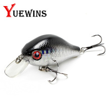 Купить с кэшбэком Yuewins 55mm 8.4g Minnow Fishing Lure Artificial Hard Bait Topwater Wobblers Fishing Bait Pesca Crankbait Bass Pike TP179