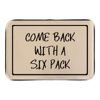 Comeback With A Six Back Doormat Cute Sign Decor Home Welcome In Outdoo Door Mats Soft