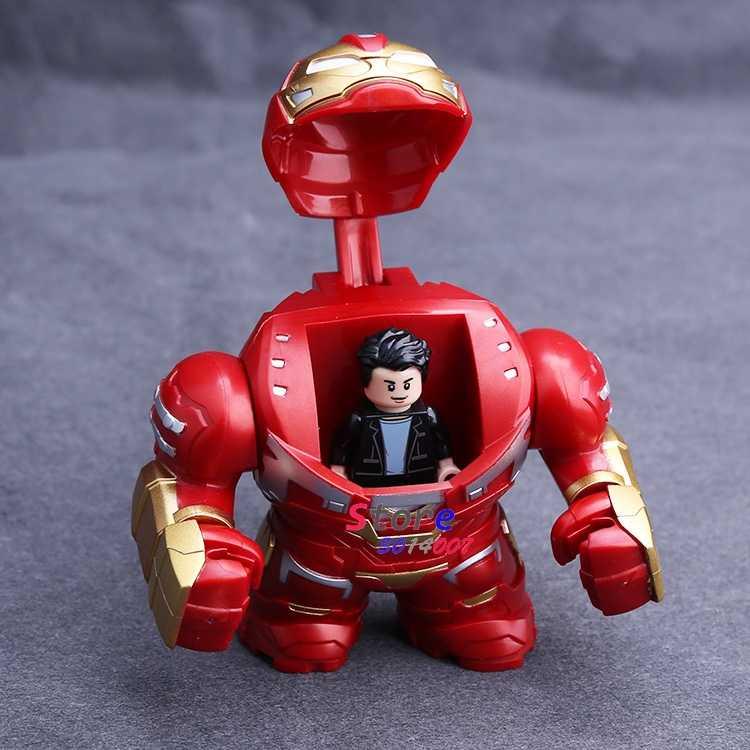 シングルマーベルアベンジャーズ Endgame Korg Thanos さんアイアンマントールハルクバスターアイアンマン戦争マシン図ビルディングブロック子供のおもちゃ