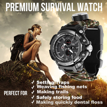EDC Outdoor Survival Watch Multi-functional Waterproof 50M Paracord Bracelet for Men Women Camping Hiking Emergency Gear