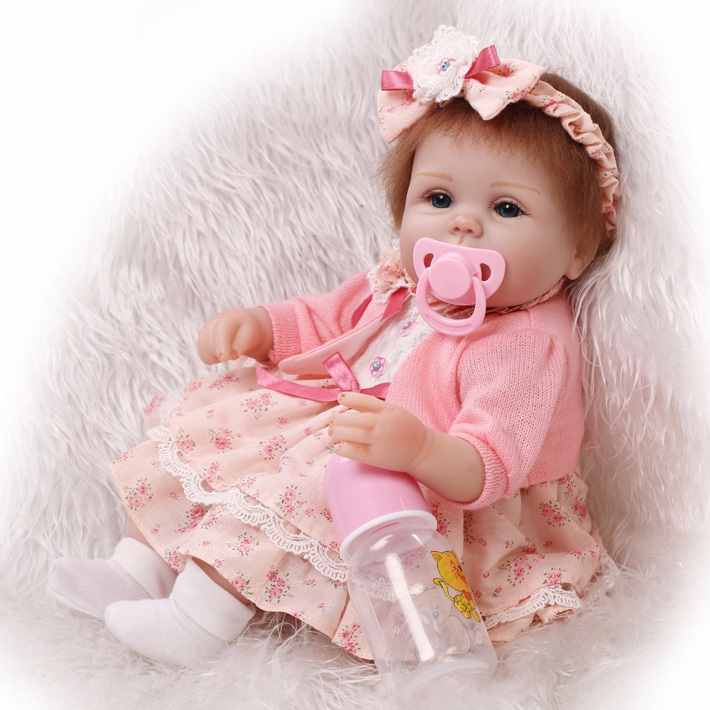 Slicone reborn baby doll toy play house bedtime toys for kid girls brinquedos soft body newborn babies collectable doll for gift pp bedtime for baby dwf acct