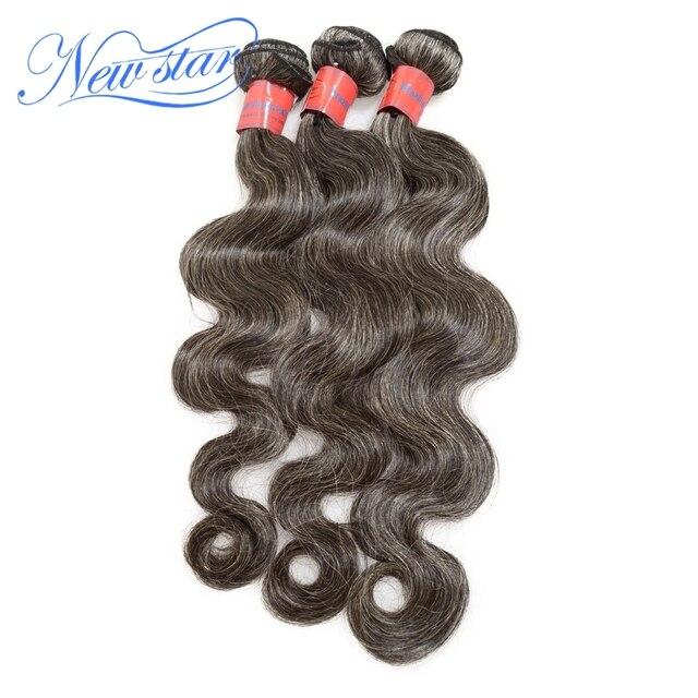 Среднего возраста и пожилых женщин бразильский виргинский седые волосы 100% необработанной наращивание волос соль и перец цвет бесплатная доставка