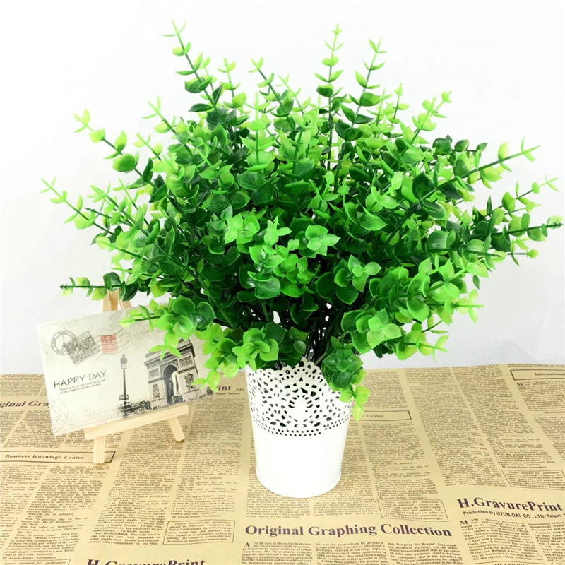 Fake Plant Green Leaves Potted Plant Flowers Office Wedding Room Home Decor  Plante Artificial Plants For
