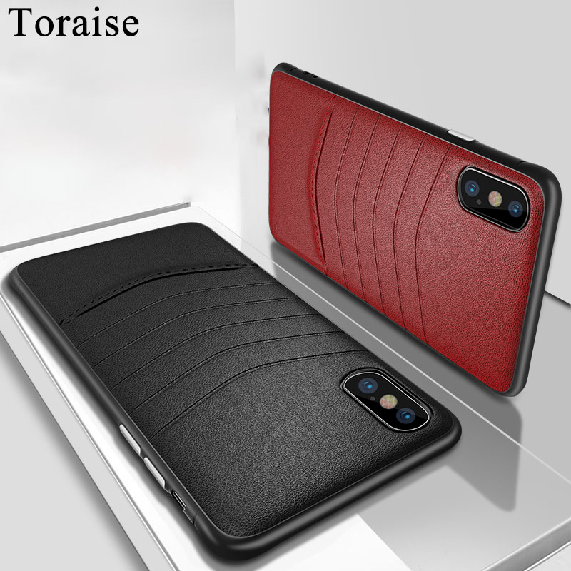 Toraise For iPhone XS Max Case PU Leather Silicone Edge Back Case For iPhone XR X Phone Cover for iPhone 7 8 Plus 6s 6 7Plus iPhone XR