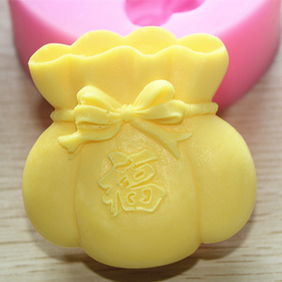 ree shipping handmade soap silica gel mould candle soap mould silicone mold for DIY money bag