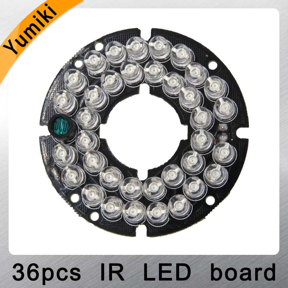 Yumiki Infrared 36pcs IR LED Board For CCTV Cameras Night Vision (diameter 53mm)