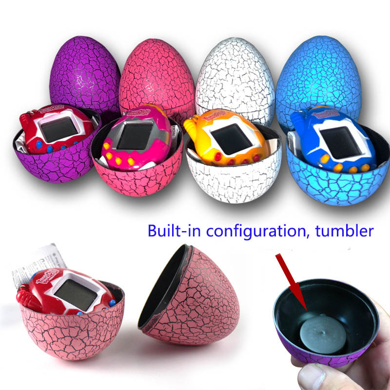 Electronic virtual pet machine Cracked egg mounted game machine Tumbler candy for childr ...