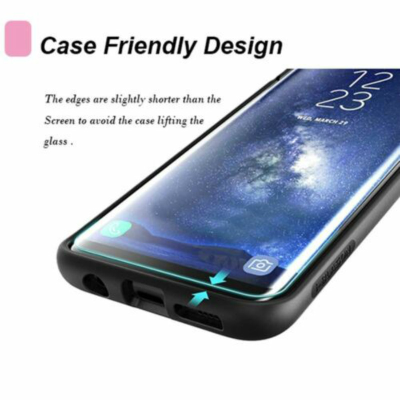 Case Friendly Tempered Glass Screen Protector for samsung galaxy S9 3D Full Cover for Samsung Galaxy S9 Plus protective Film in Phone Screen Protectors from Cellphones Telecommunications