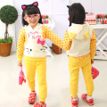 Kids Clothes Sets Vestir Girls Clothing Sets Retail Kitten Spring And Autumn Suit Cotton Dress Mika Through Set Free Shipping