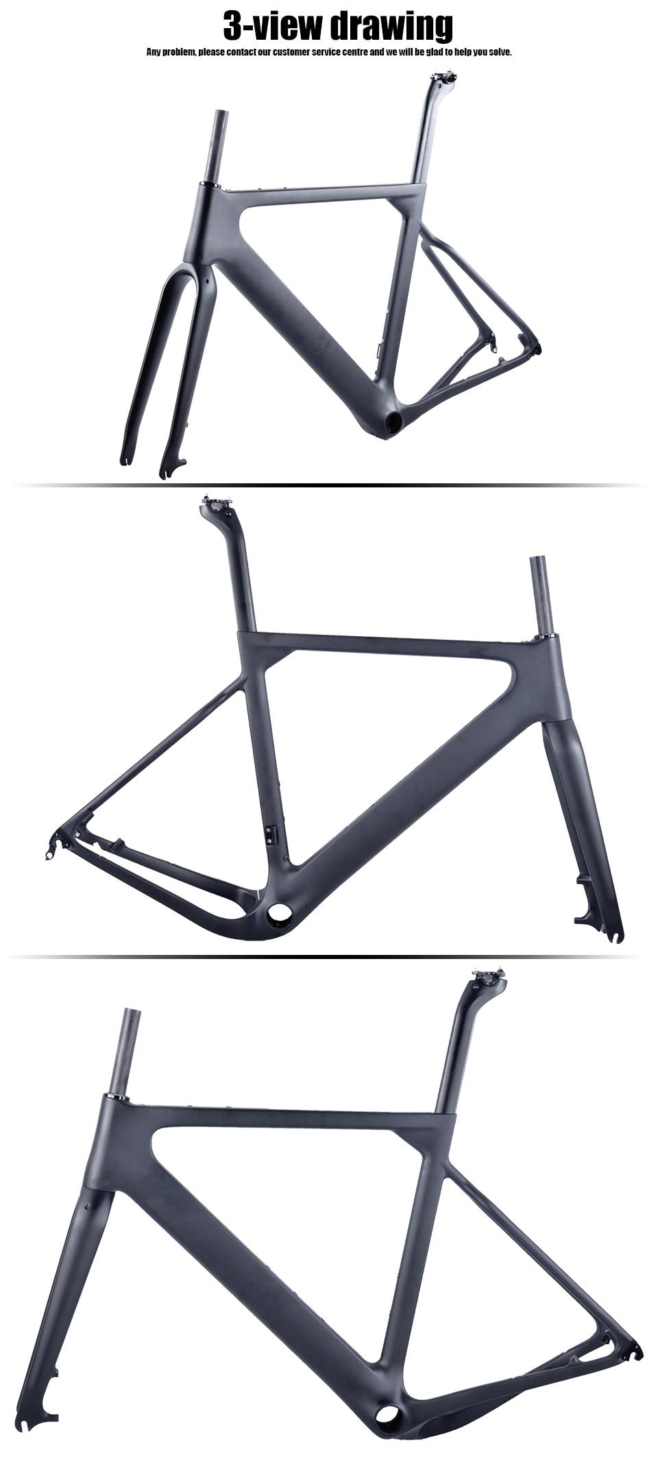 HTB17CtQB5CYBuNkSnaVq6AMsVXa3 - 2018 New Cyclocross Frame Aero Road or Gravel Bike Frame S/M/L size Disc Bike Carbon frameset QR or thru axle