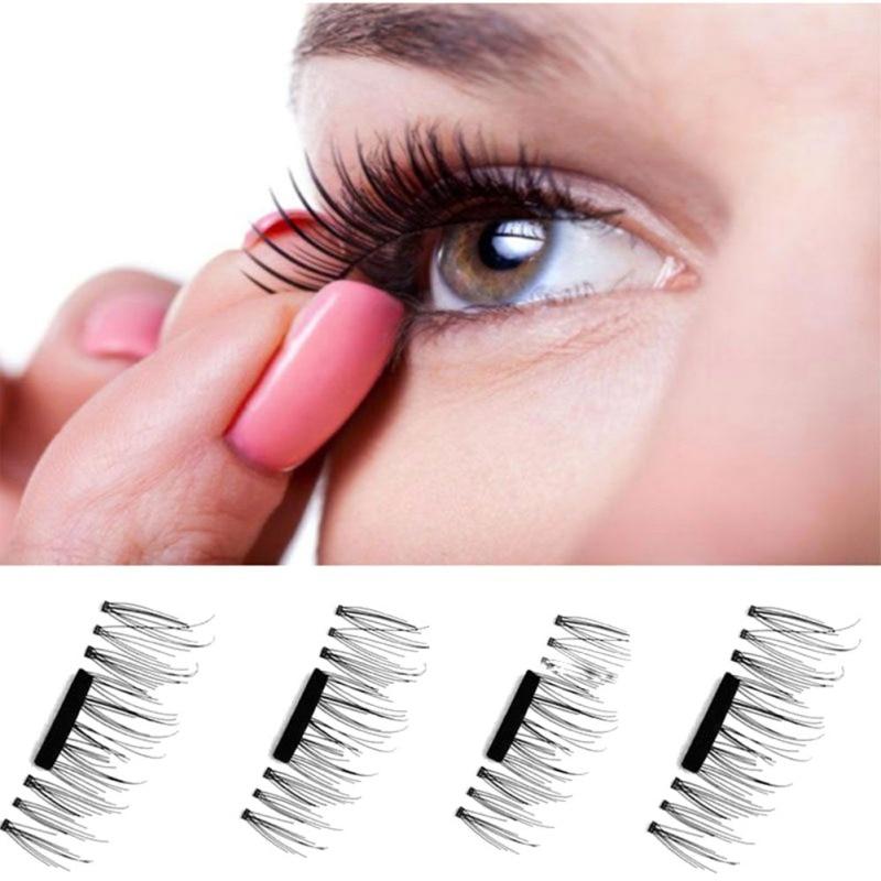 4Pcs 3D Magnetic False Eyelashes Extension Beauty Makeup Accessories Soft Hair False Eyelashes